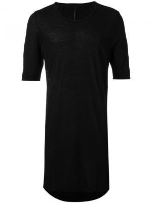 Удлиненная футболка Manuel Marte. Цвет: чёрный