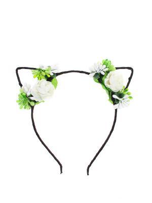 Ободок Olere. Цвет: черный, белый, зеленый