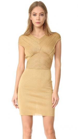 Платье без рукавов Antonio Berardi. Цвет: коричневый