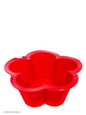 Форма для выпечки  Цветок Bekker. Цвет: красный
