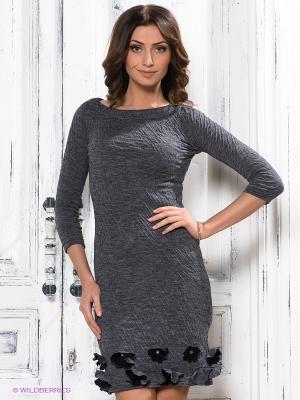 Платье Наталья Новикова. Цвет: серый, черный