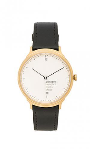 Часы helvetica no1 light Mondaine. Цвет: черный