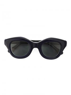 Солнцезащитные очки в оправе кошачий глаз Hakusan. Цвет: синий