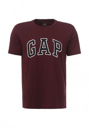 Футболка Gap. Цвет: бордовый