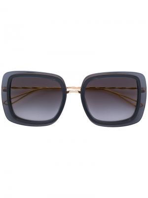 Солнцезащитные очки в квадратной оправе Elie Saab. Цвет: металлический