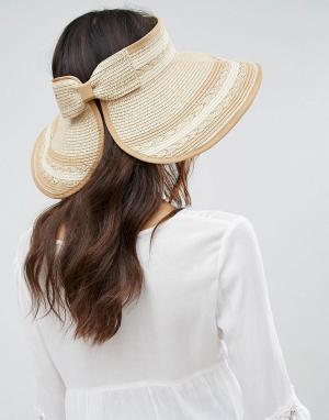 Boardwalk Соломенная шляпа с козырьком. Цвет: кремовый