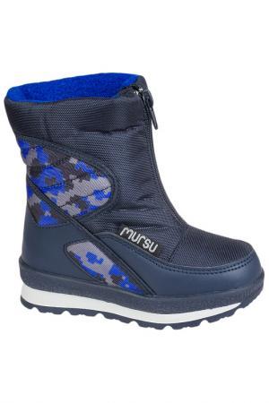 Сапоги MURSU. Цвет: синий