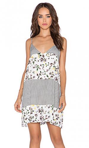 Мини платье floral The LDRS. Цвет: белый