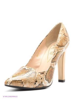 Туфли Moda Donna. Цвет: бежевый, коричневый