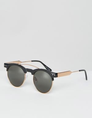Spitfire Солнцезащитные очки в стиле ретро. Цвет: черный