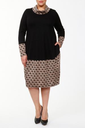 Платье Darkwin. Цвет: черный, бежевый