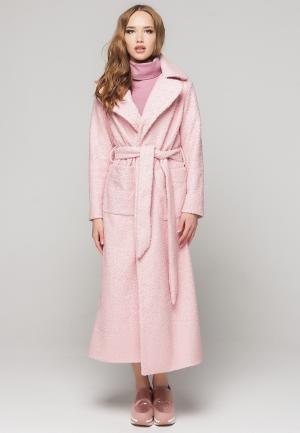 Пальто Malaeva. Цвет: розовый