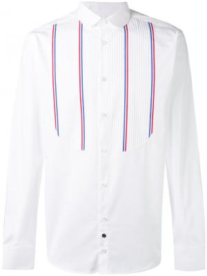 Рубашка с нагрудником Lc23. Цвет: белый