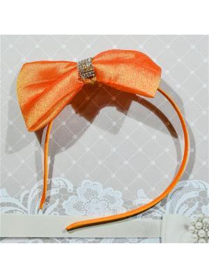 Ободок Бант Bizon. Цвет: оранжевый