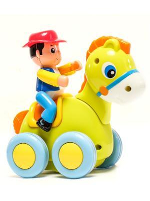 Игрушка Зверюшка на колесах HUILE. Цвет: красный