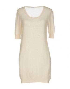 Короткое платье GENTRYPORTOFINO. Цвет: слоновая кость
