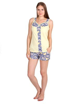 Пижама Flip. Цвет: светло-желтый