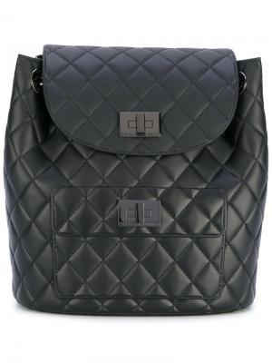 Стеганый рюкзак Designinverso. Цвет: чёрный
