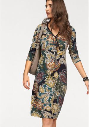 Платье BOYSENS BOYSEN'S. Цвет: хаки/черный