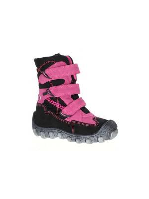 Ботинки Bartek. Цвет: розовый, черный