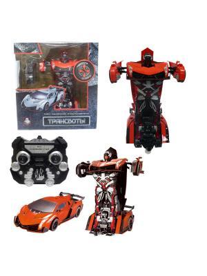 Робот на р/у 2,4GHz, трансформирующийся в спортивный автомобиль, оранжевый 1Toy. Цвет: серый