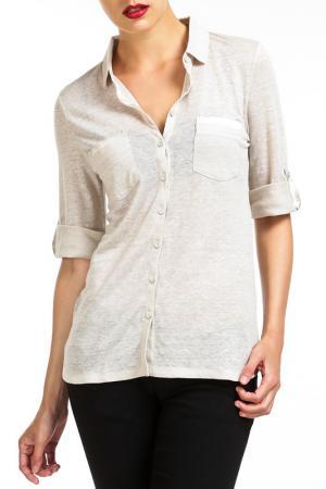 Рубашка LES ATELIERS DE LA MAILLE. Цвет: серый