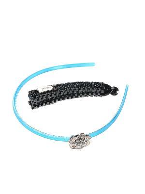 Аксессуары для волос (Ободок, заколка-краб ) Migura. Цвет: синий, золотистый, черный