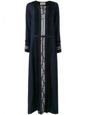 Платье макси Aleak Antonia Zander. Цвет: синий