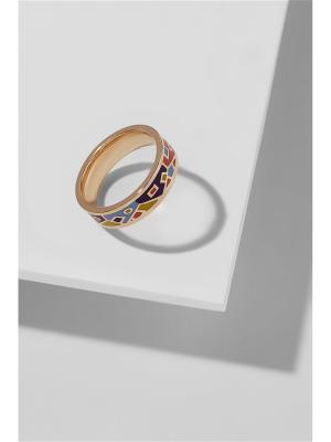 Кольцо Путешествие в Тоскану Nothing but Love. Цвет: лазурный, золотистый, синий