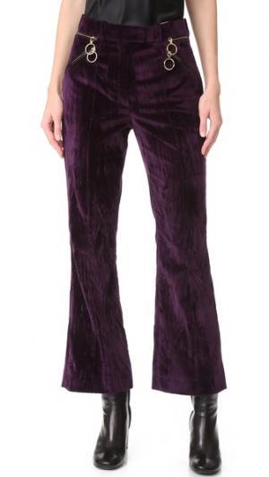 Укороченные расклешенные брюки Nina Ricci. Цвет: темно-фиолетовый