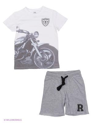 Комплект одежды S`Cool. Цвет: белый, серый