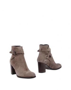 Полусапоги и высокие ботинки ZINDA. Цвет: серый