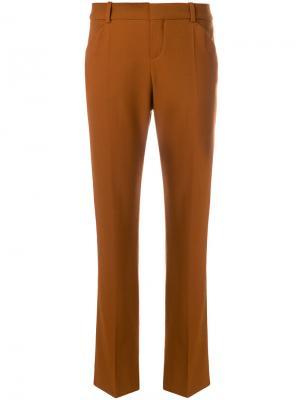 Строгие брюки клеш Chloé. Цвет: коричневый