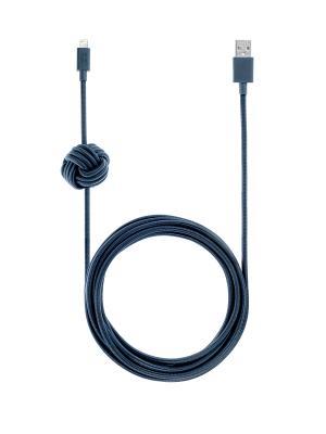 Кабель зарядный с фиксатором положения, размер 3 м., цвет: синий , NCABLE-L-MAR NIGHT CABLE Native Union. Цвет: синий