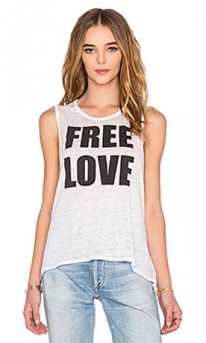 Майка без рукавов free love Chaser. Цвет: белый