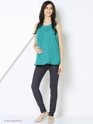 Блузка-топ MammySize. Цвет: зеленый