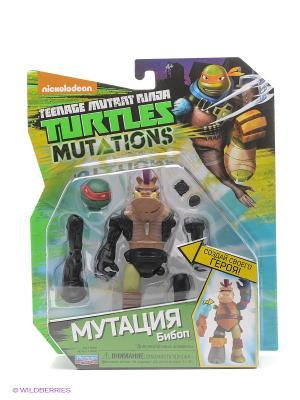 Фигурка Черепашки-ниндзя 12см серия Mutation Бибоб Playmates toys. Цвет: бежевый, оранжевый, синий