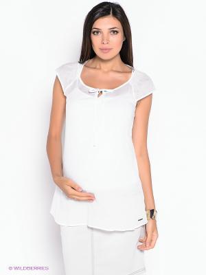 Блузка ESPRIT. Цвет: белый