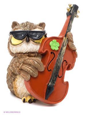 Фигурка-сова Музыкант Оливер The Comical World of Stratford. Цвет: коричневый, черный