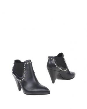 Полусапоги и высокие ботинки KALLISTÈ. Цвет: темно-синий