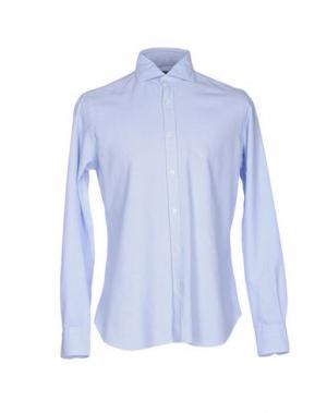 Pубашка DANDYLIFE by BARBA. Цвет: небесно-голубой