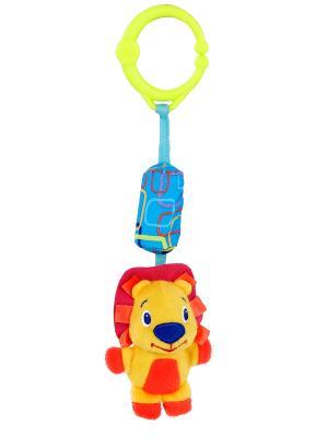Развивающая игрушка Звонкий дружок, Львёнок BRIGHT STARTS. Цвет: желтый, красный
