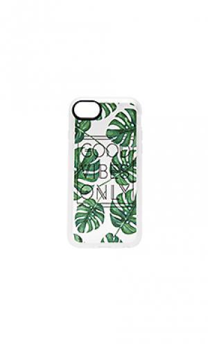 Чехол для iphone 7 gvo tropical leaves Casetify. Цвет: зеленый