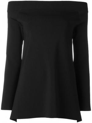 Блузка с открытой спиной Frida Solace. Цвет: чёрный