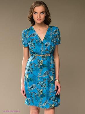 Платье TOPSANDTOPS. Цвет: голубой