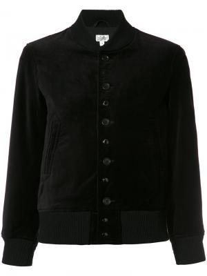 Куртка бомбер на пуговицах Engineered Garments. Цвет: чёрный