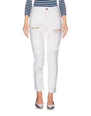 Джинсовые брюки DERRIÉRE. Цвет: белый