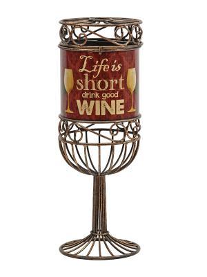 Декоративная емкость для винных пробок/мелочей Life is Short BOSTON. Цвет: коричневый
