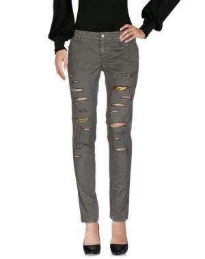Повседневные брюки SHI 4. Цвет: зеленый-милитари