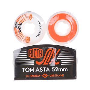 Колеса для скейтборда  Tom Asta Slix White/Orange 81B 52 mm Ricta. Цвет: белый,оранжевый